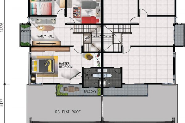 Semi-D First Floor