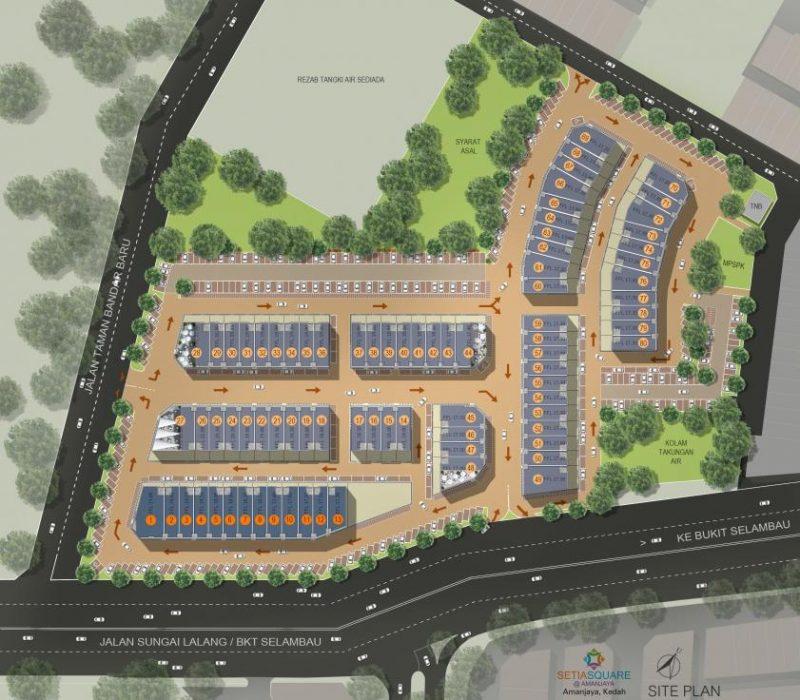 Setia Square Amanjaya-Site_Plan