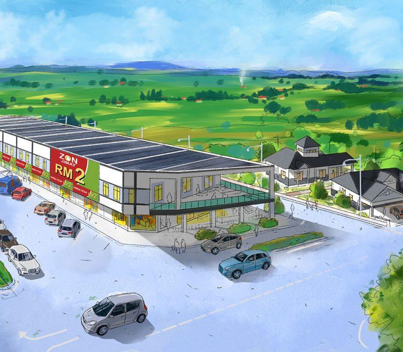 Kedai-Dron-view-Pulai-Square